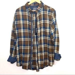 One Day Away Oversized Dad Flannel Shacket…